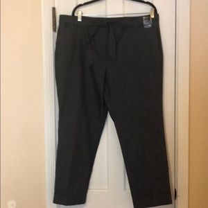 NY&Co cuff denim-look ankle pants Size 16 NEW